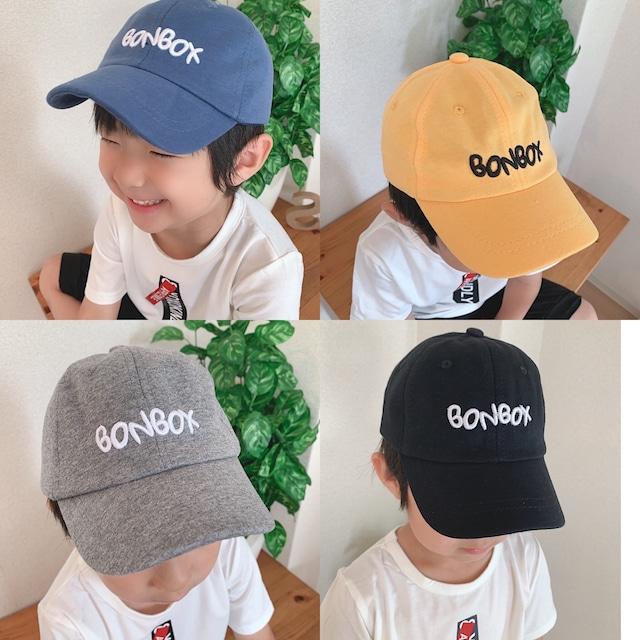 【子供】キャップ キッズロゴキャップ キッズ帽子 ベビー キッズ 韓国 子供 男の子 女の子 帽子 オシャレ 4色展開 ブラック グレー ネイビー イエロー
