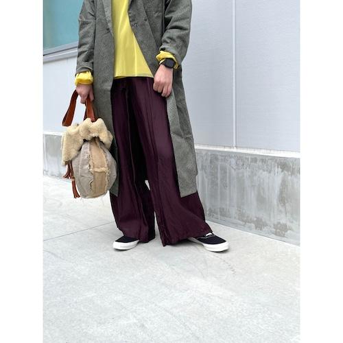 【hippiness】cupro shirring pants (90dark purple) /【ヒッピネス】キュプラシャーリングパンツ(90ダークパープル)