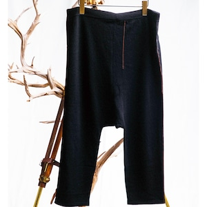 JOE CHIA - Mens knitted dropped crotch pants - PA02-KN