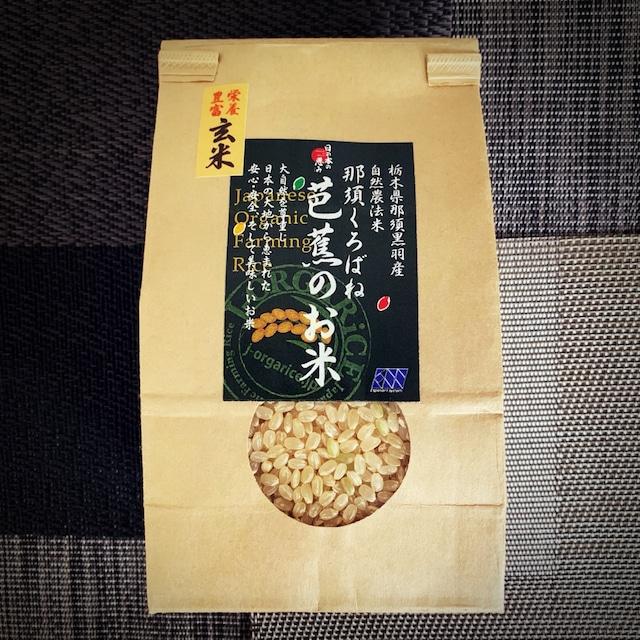 熟成米:令和元年産【食べきりサイズ 3合x9袋】プレミアム玄米 「那須くろばね芭蕉のお米」