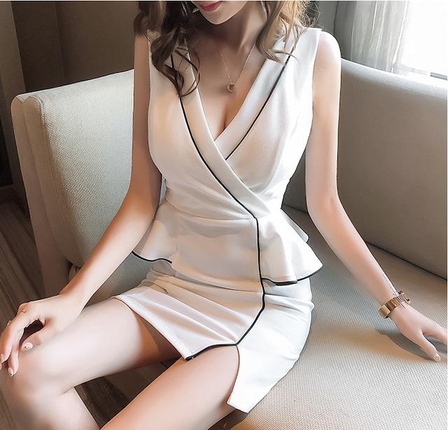 Vネックドレス  ·キャバドレス・YN2018