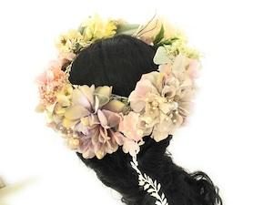 マーメイドの花かんむり*ラプンツェル*結婚式*成人式*髪飾り*ウエディング