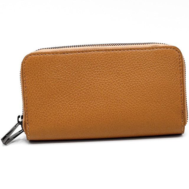 財布 イタリア製 キャメル