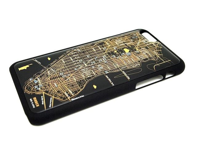 FLASH NY回路地図 iPhone6/6s  ケース  黒【東京回路線図A5クリアファイルをプレゼント】