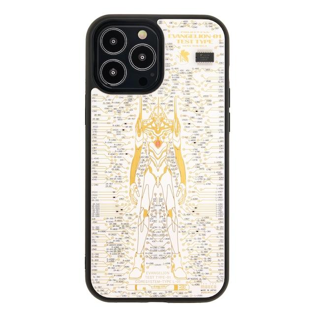 FLASH EVA01 基板アート iPhone 13Pro Maxケース 白【東京回路線図A5クリアファイルをプレゼント】