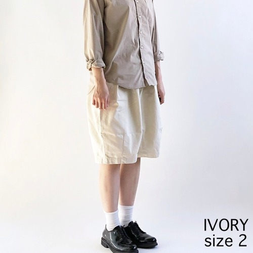 【HARVESTY】CIRCUS SHORT PANT (IVORY) (UNISEX) ショートパンツ サーカスショートパンツ ユニセックス 日本製