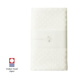 わた音 しゅす織り フェイスタオル/生成 1-60623-31-OW