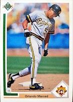 MLBカード 91UPPERDECK Orlando Merced #084 PIRATES