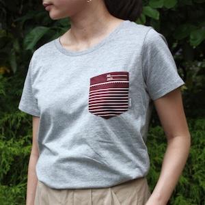 ノートの端っこTシャツ エンジ