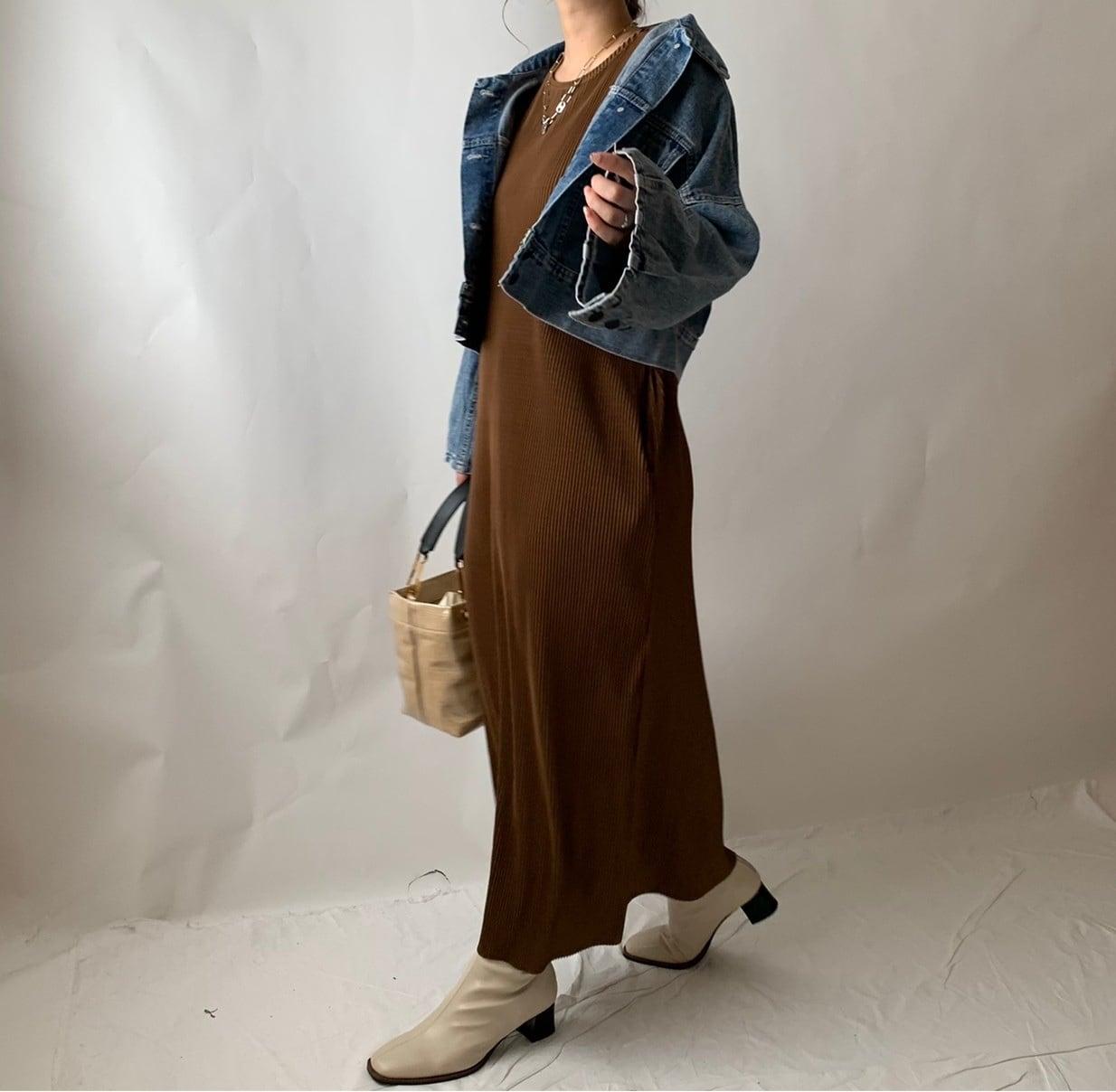 【asyu】pleats date one-piece