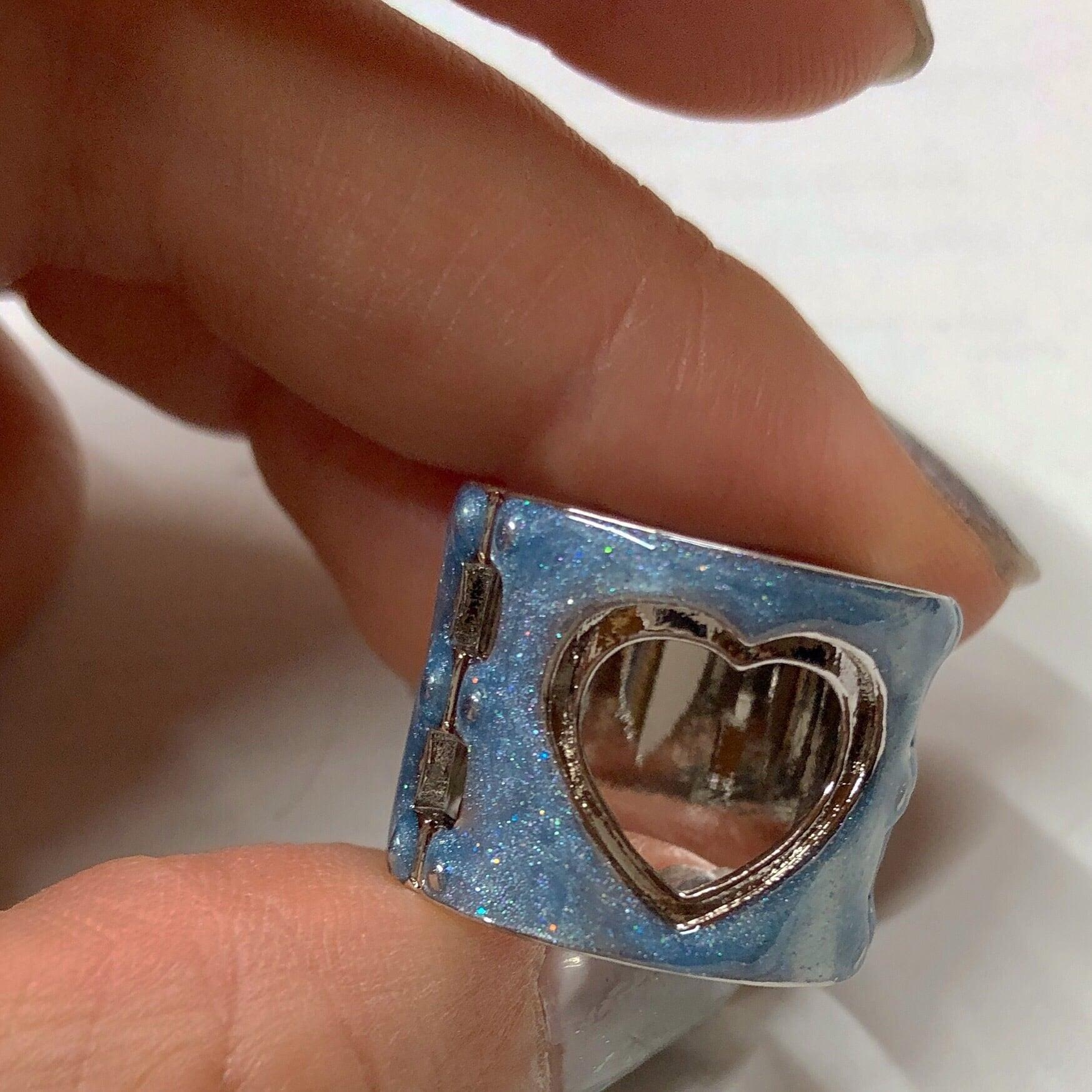 handcuffs RING SILVER BLUE #LA19002R ハンドカフスリング/シルバー・ブルー