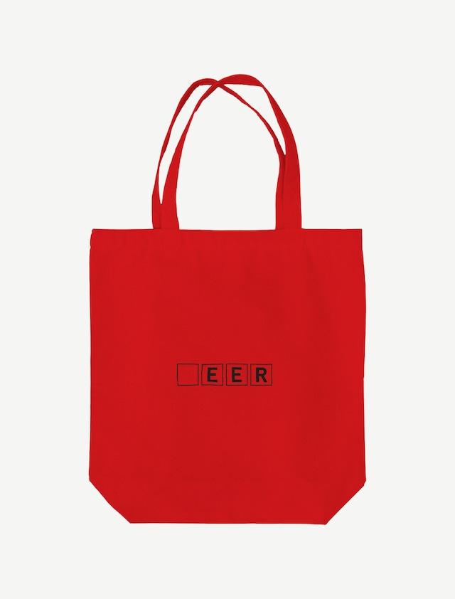 【□EER】トートバッグ(レッド)