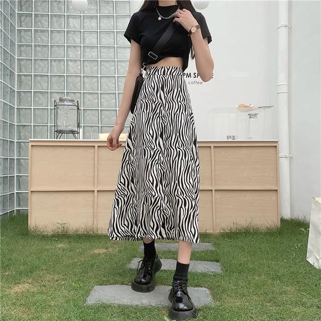 ゼブラAラインスカート