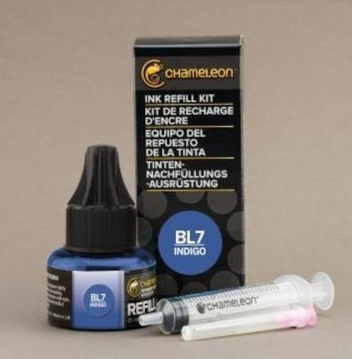 Chameleon Pen Ink Refill 25ml Indigo BL7 (カメレオンペン 詰替え用インク BL7)