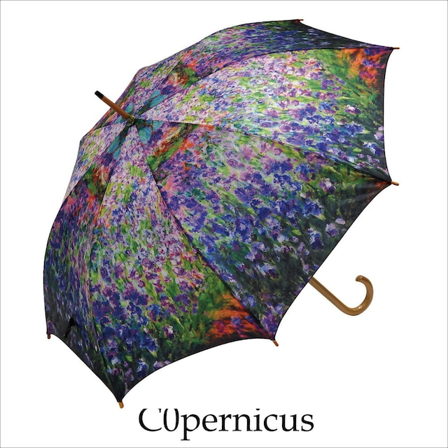umbrella モネ(アイリスガーデン) 名画木製ジャンプ傘  浜松雑貨屋Copernicus
