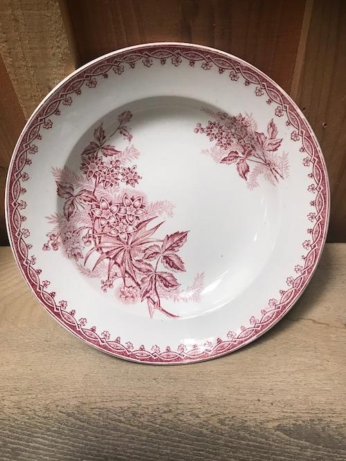 1880年代 フランスアンティーク ボタニカル柄 プレート 皿
