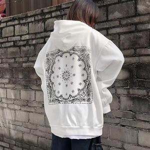 【トップス】ファッションルーズフード付きプリントパーカー52631255