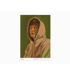 Claire Tabouret - Self-portrait with a Hood (purple)