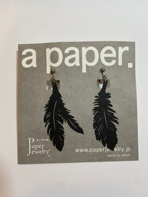 【Paper Jewely】コクチョウ/イヤリング
