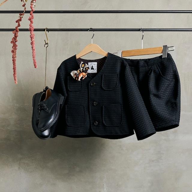 4.【レンタル】ノーカラースーツ(ブラック/ネイビー・Mサイズ110~120)