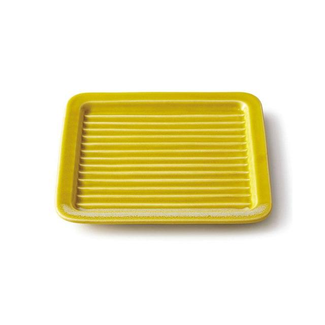 aito製作所 「Itsumo いつも」 サクッとトーストプレート 17.6cm イエロー 美濃焼 262038