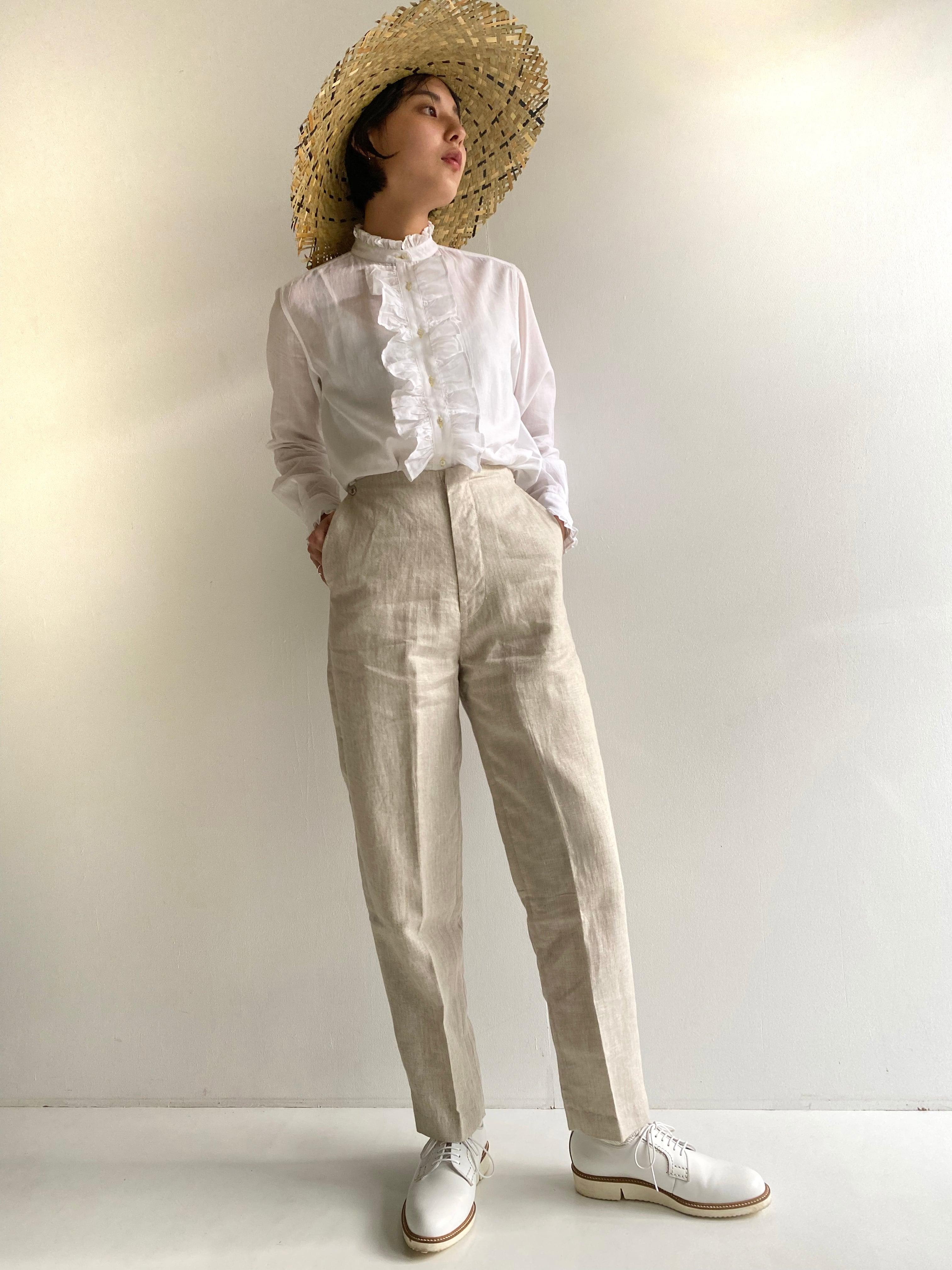"Frill blouse ""white"" cotton muslin"