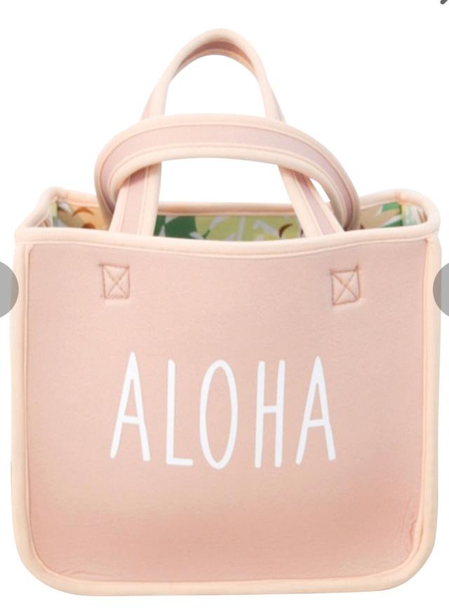 《人気商品につき再入荷》ハワイアン ネオプレン2wayリバーシブルバッグ ALOHA モンステラ