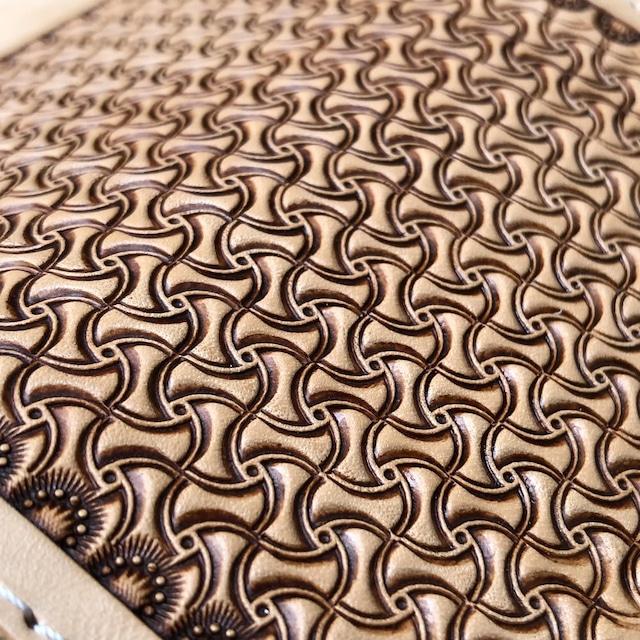 長財布 ロングウォレット クレイジースタンプ レザーカービング 手縫い イタリアンレザー ヌメ革 バイカーズウォレット 日本製 LW-CS LEVEL7