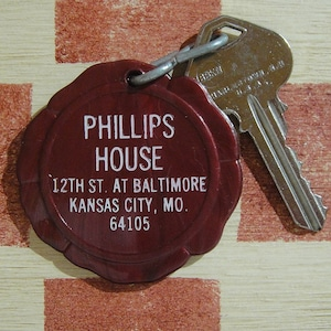 アメリカ Hotel Phillips[ホテル フィリップス]カンザスシティ ヴィンテージ ルームキーホルダー