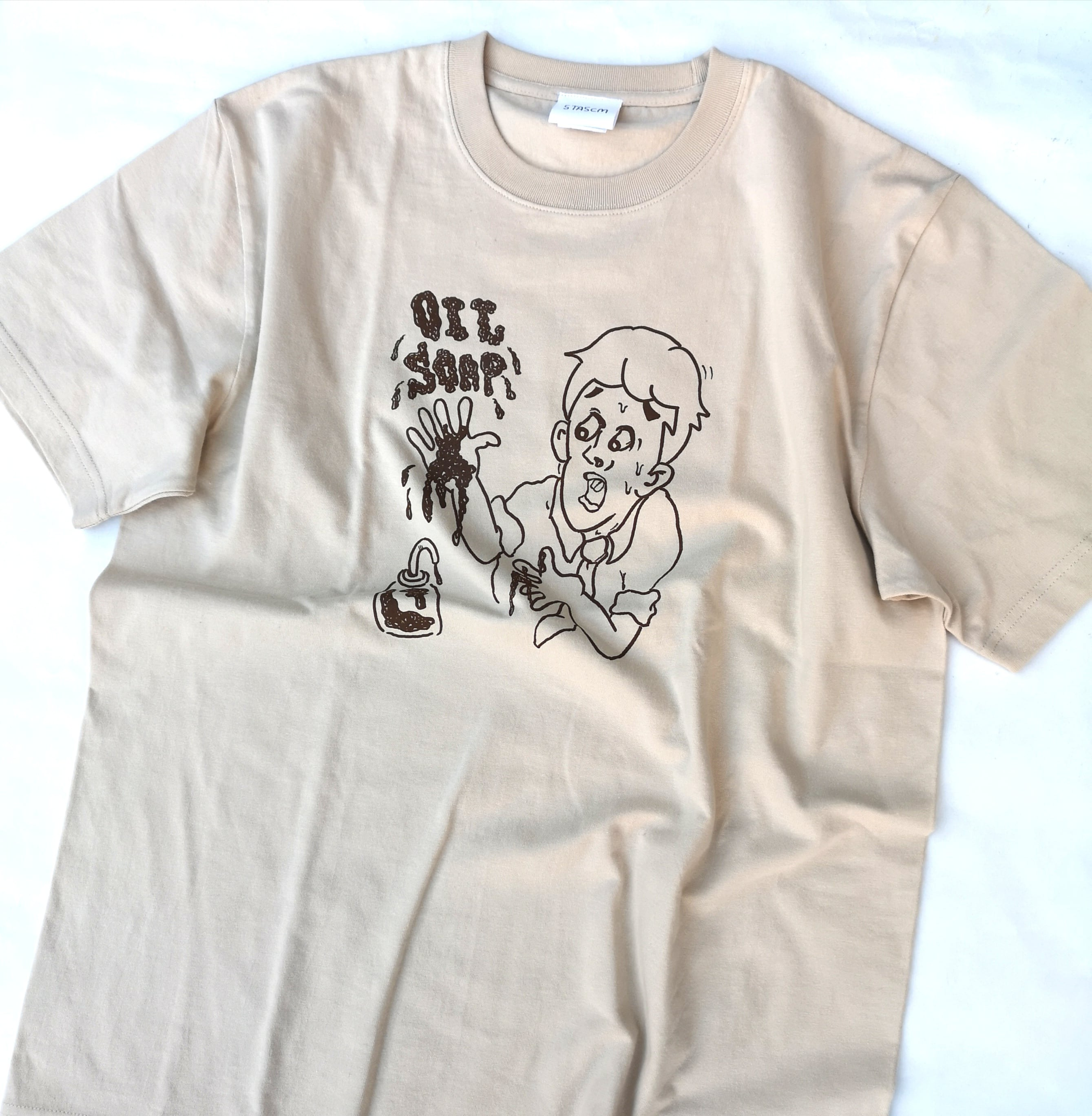 """STASCM  """"おっとっとシリーズ"""" OIL SOAP TEE SIZE : L"""