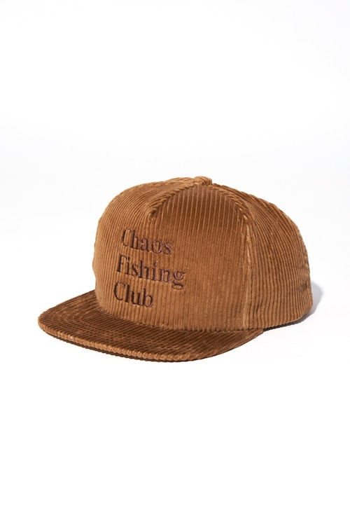 CHAOS FISHING CLUB LOGO CORDUROY CAP BROWN