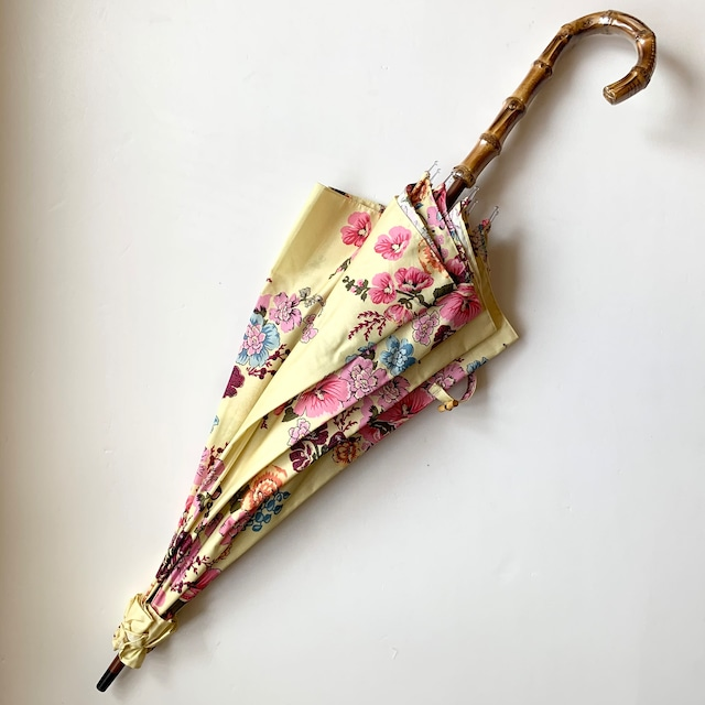 北欧デザイン日傘(晴雨兼用)| パゴダタイプ | yellow flower