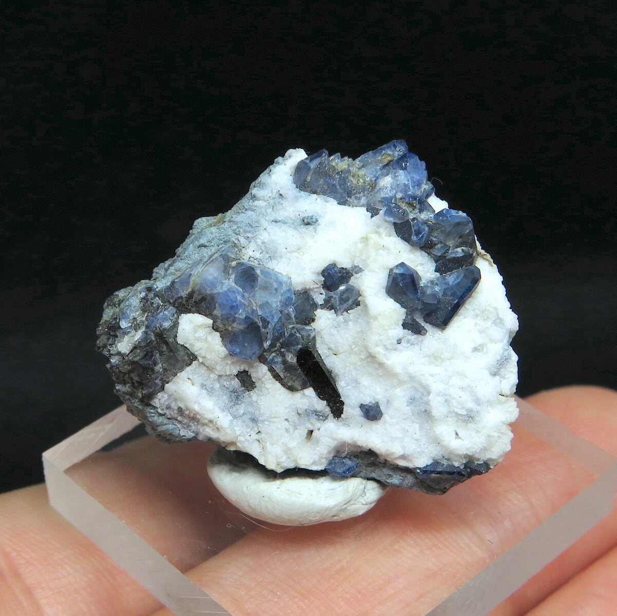 ベニトアイト ネプチュナイト ベニト石  海王石 カリフォルニア産 6,9g BN097 鉱物 天然石 パワーストーン