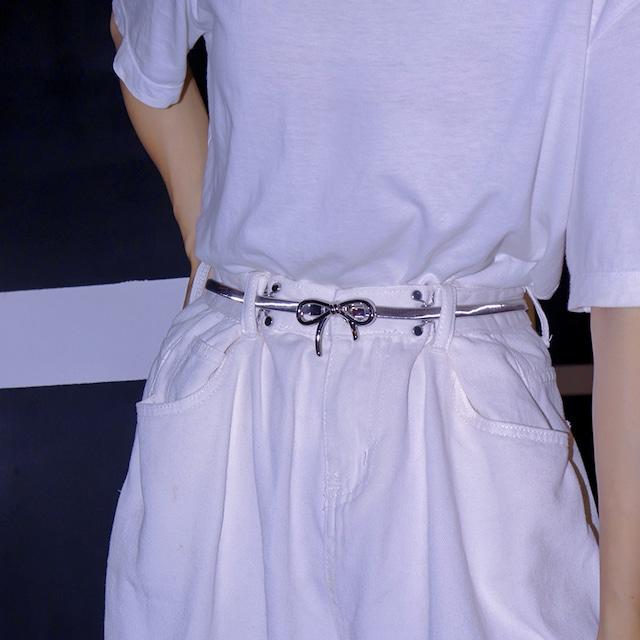 【Alittlecuteシリーズ】★ベルト★ 小物 アクセサリー リボン シンプル ズボン ワンピース 合わせやすい