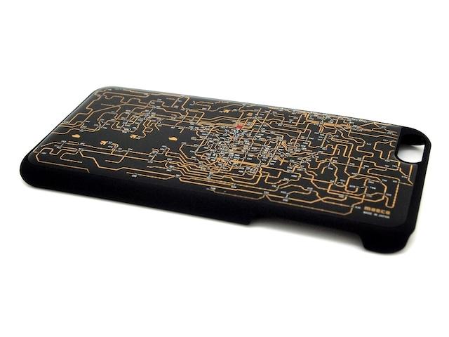 関西回路線図 iPhone6/6s  Plus ケース 黒【LEDは光りません】【東京回路線図A5クリアファイルをプレゼント】