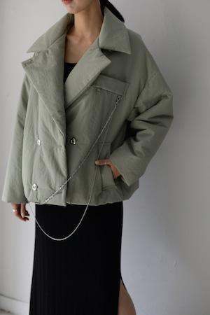 ROOM211 / Padding short jacket Coat (mint green)