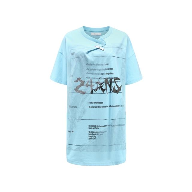【24 ans】ネックラインフォールディングニュートラルTシャツ