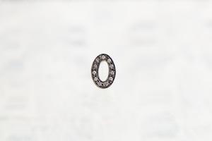 数字 シングルピアス  SV925 Numéro diamant 0
