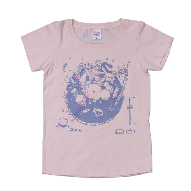 sasakure.UK『トンデモ未来空奏図』Tシャツ ライトピンク - 画像1