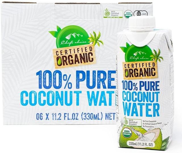 シェフズチョイス オーガニックココナッツウォーター 330ml 6本セット 無添加 Organic 100% pure coconut water