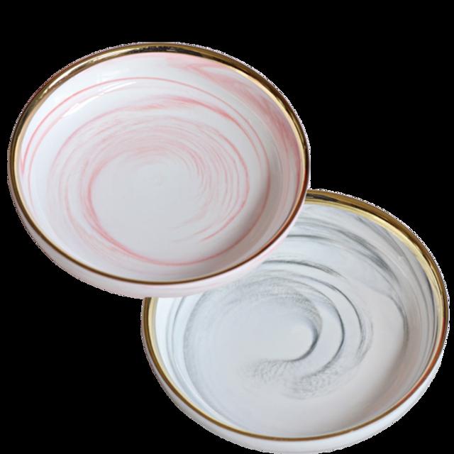 Marble deep dish / 大理石 パスタプレート 20cm