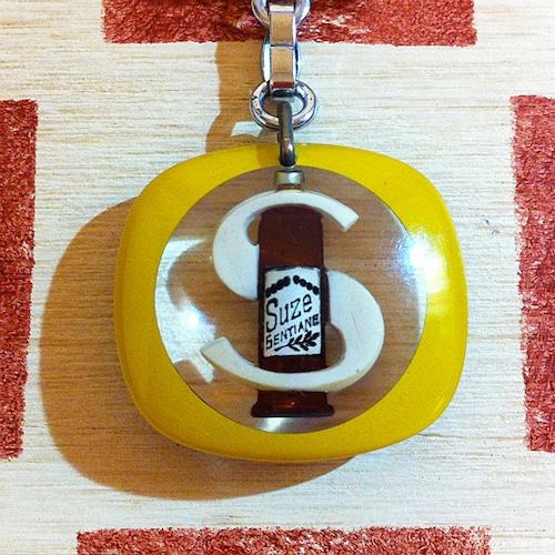フランス SUZE[スーズ]お酒ボトル広告ノベルティ ブルボンキーホルダー/モバイルタイプ