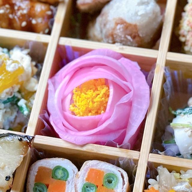 酢漬け大根の手毬寿司