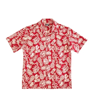 Mountain Men's オープンアロハシャツ /  Tiki / RED
