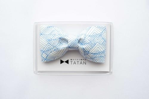 TATAN ラインアート蝶ネクタイ(ブルー)