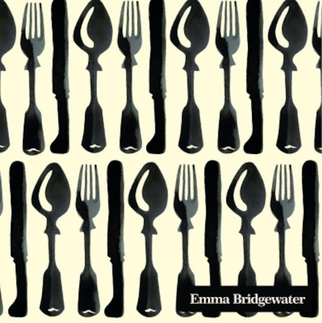 【Emma Bridgewater】バラ売り2枚 カクテルサイズ ペーパーナプキン BLACK TOAST TABLE ブラック