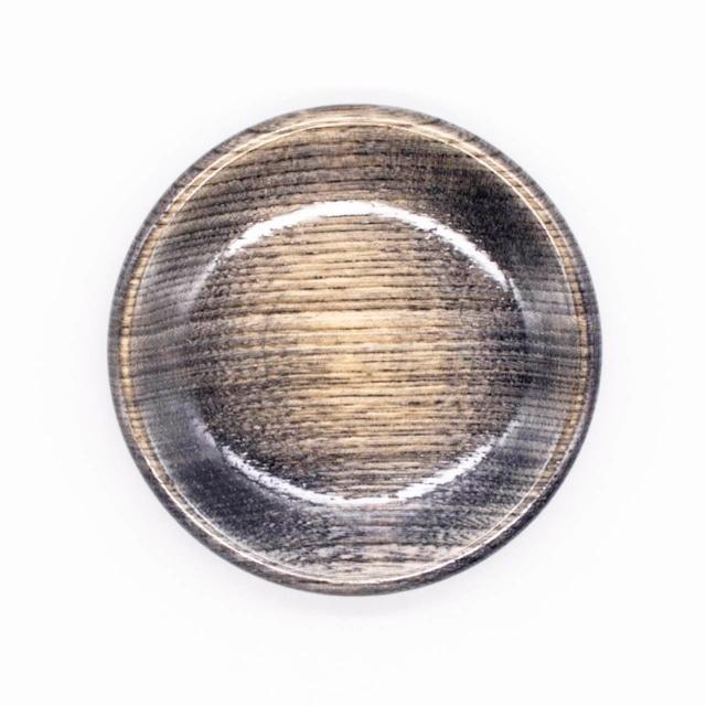 【限定1点 アウトレット品】山中漆器 栓3.5 豆皿 カラフル ブラック 254452 豆豆市193