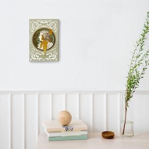 素敵なアートパネル A 4サイズ ビザンティン風の頭-ブロンド アルフォンス・ミュシャ