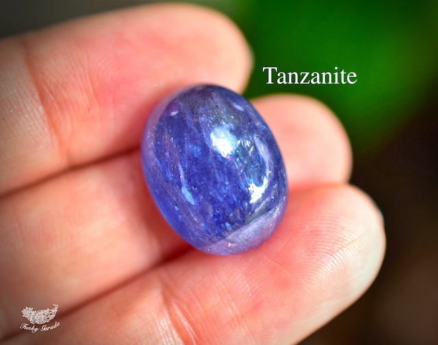 星空の瞬き★虹入り★タンザナイト ルース カボション tanza007