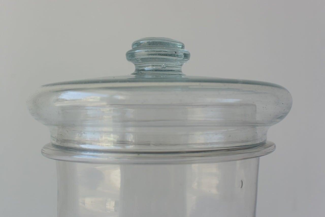 気泡たっぷり吹きガラス瓶